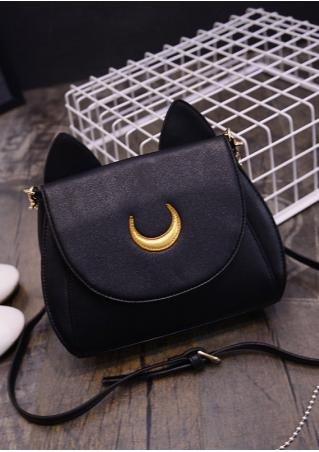 Ear Moon Splicing Adjustable Shoulder Bag