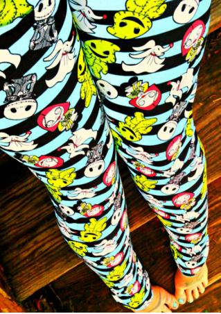 Ghost Muppet Printed Stretchy Skinny Leggings