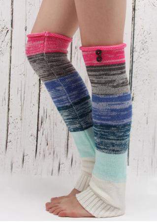 Color Block Knitted Boots Socks