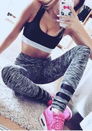 Printed Ankle-Length Stretchy Leggings
