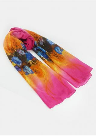 Floral Printed Soft Scarf