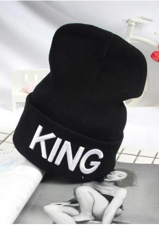 Letter Printed Knitted Hat