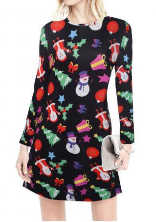 Christmas Printed Casual Dress
