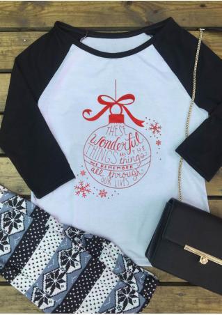 Christmas Wonderful Baseball T-Shirt