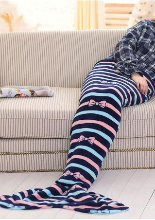 Bow Dot Mermaid Tail Design Blanket
