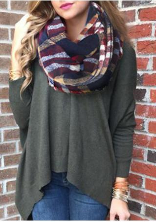 Multicolor Plaid Tassel Scarf