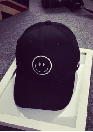 Smile Embroidery Casual Baseball Cap