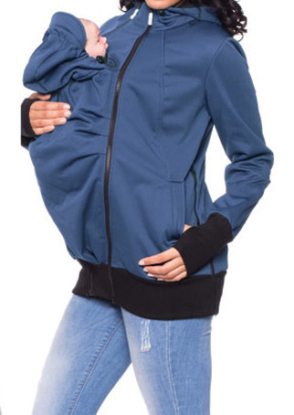 Solid Adjustable Baby Carrier Hoodie 101607