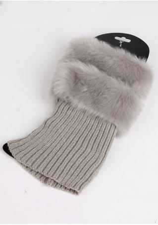 Solid Fur Knitted Warm Socks