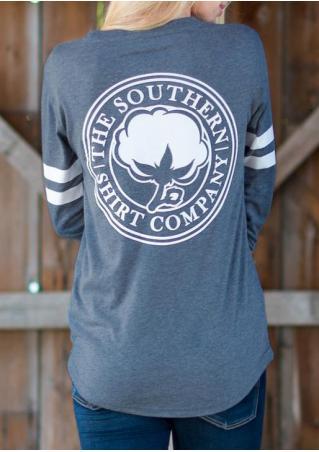 Badge Letter Long Sleeve T-Shirt