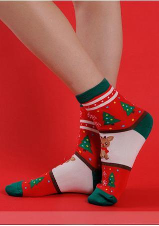 Christmas Snowflake & Santa & Snowman Socks
