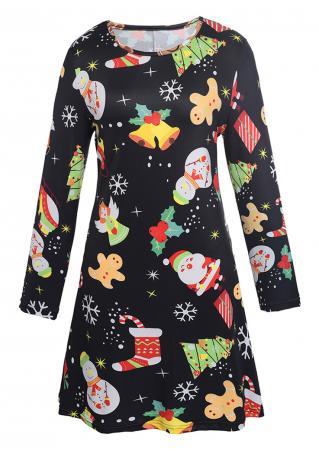 Christmas Santa Snowman Jingle Bell Mini Dress