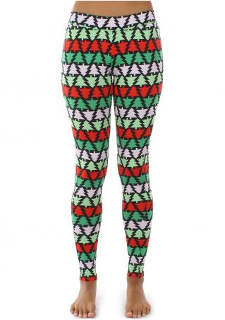 Christmas Tree Stretchy Skinny Leggings