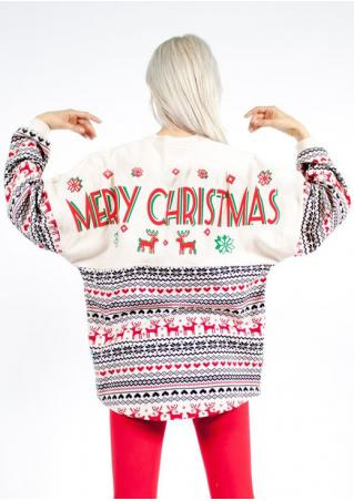 Merry Christmas Reindeer Blouse