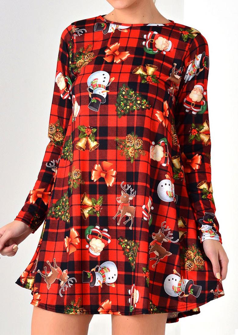 Christmas tree santa snowman reindeer mini dress bellelily