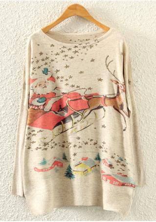 Christmas Reindeer & Santa Claus Sweater