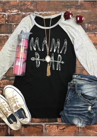 Mama Bear Baseball T-Shirt Without Necklace