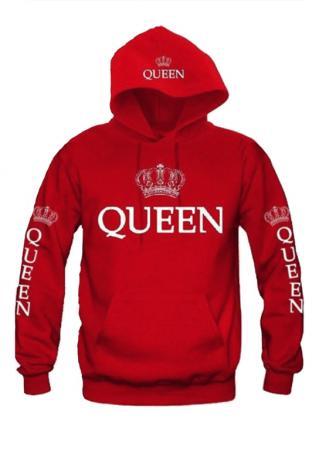 Crown Queen Drawstring Pocket Hoodie