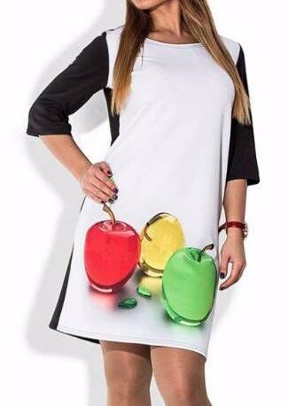 Apple Color Block Dress 102120