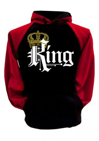 King Crown Drawstring Pocket Hoodie