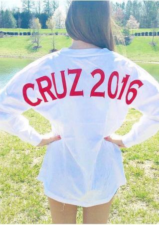 Cruz Amercan Flag Batwing Sleeve Sweatshirt