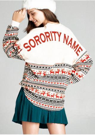 Christmas Reindeer Sorority Name Sweatshirt