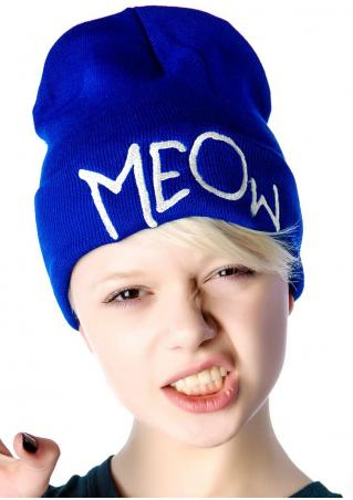 Meow Knitted Hat