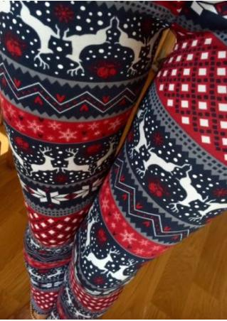 Christmas Reindeer & Snowflake & Tree Leggings