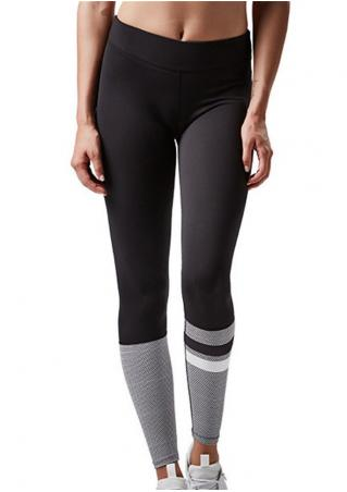 Striped Splicing Skinny Sport Leggings