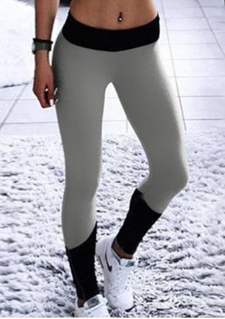 Color Block Skinny Sport Leggings
