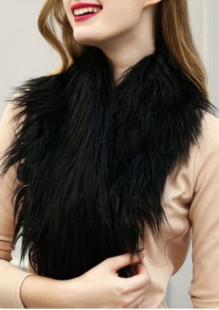 Solid Artificial Fur Scarf