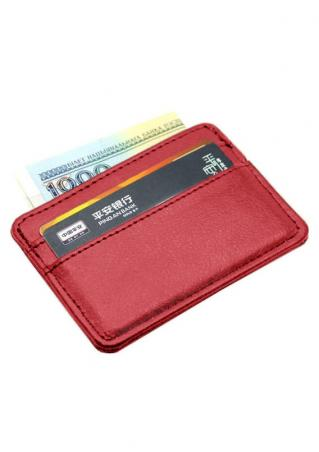 Solid PU Card Holder