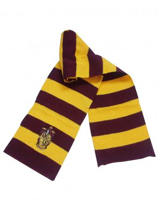 Striped Badge Knitted Warm Scarf