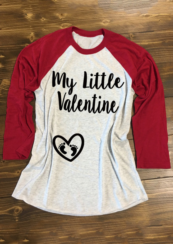 My Little Valentine Amp Heart Design Baseball T Shirt