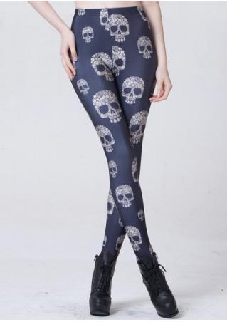 Skull Skinny Stretchy Leggings