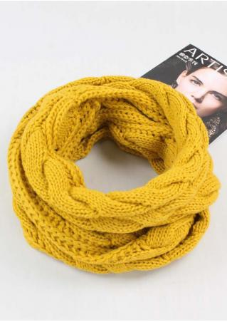 Solid Knitted Warm Scarf