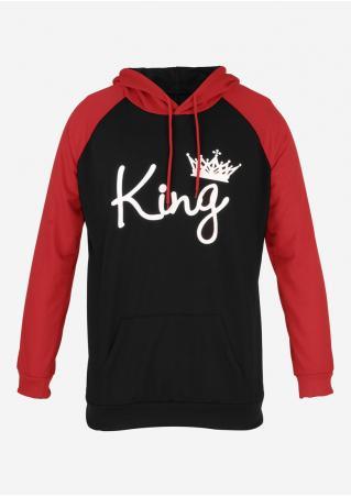 King Drawstring Casual Hoodie