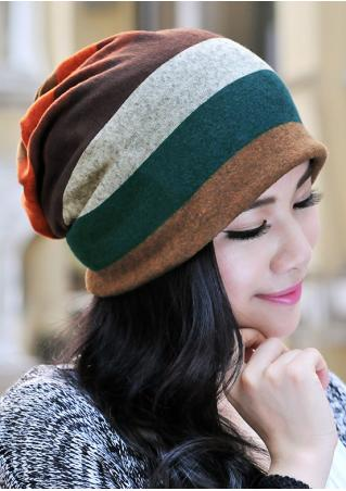 Striped Double-Layered Soft Hat