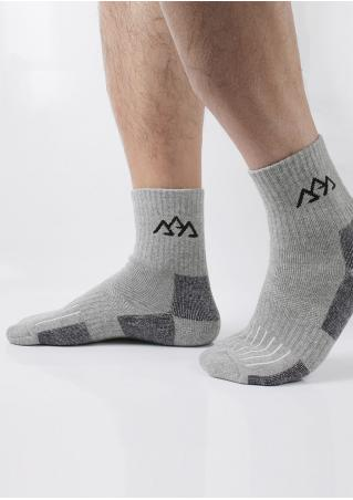 Color Block Soft Socks