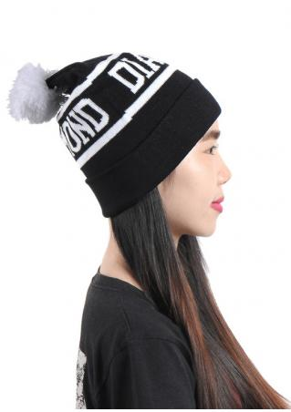 Diamond pompon Knit Hat