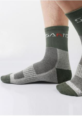 Color Block Ventilative Socks