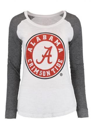 A Alabama Crimson Tide Elbow Patch T-Shirt