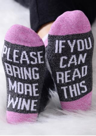 Please Bring More Wine Socks