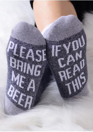 Please Bring Me a Beer Soft Socks