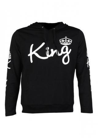 King Crown Long Sleeve Hoodie