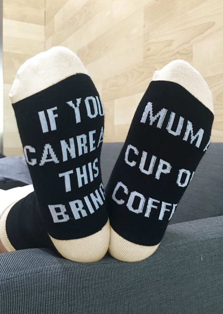 Bring Mum a Cup of Coffee Socks