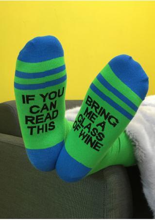 Bring Me a Glass of Wine Warm Socks