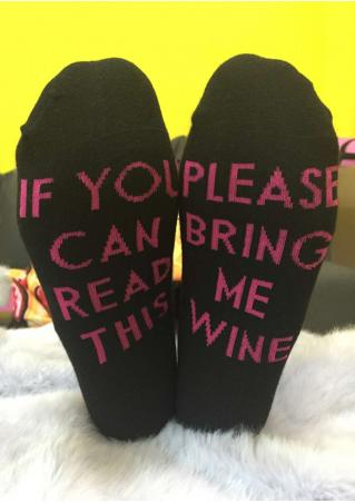 Please Bring Me Wine Warm Socks