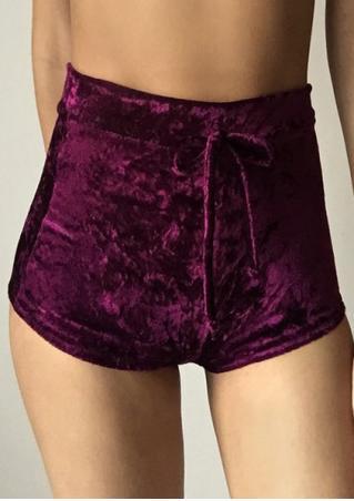 Solid Drawstring Shorts