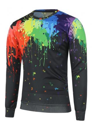 Multicolor Painted Sweatshirt